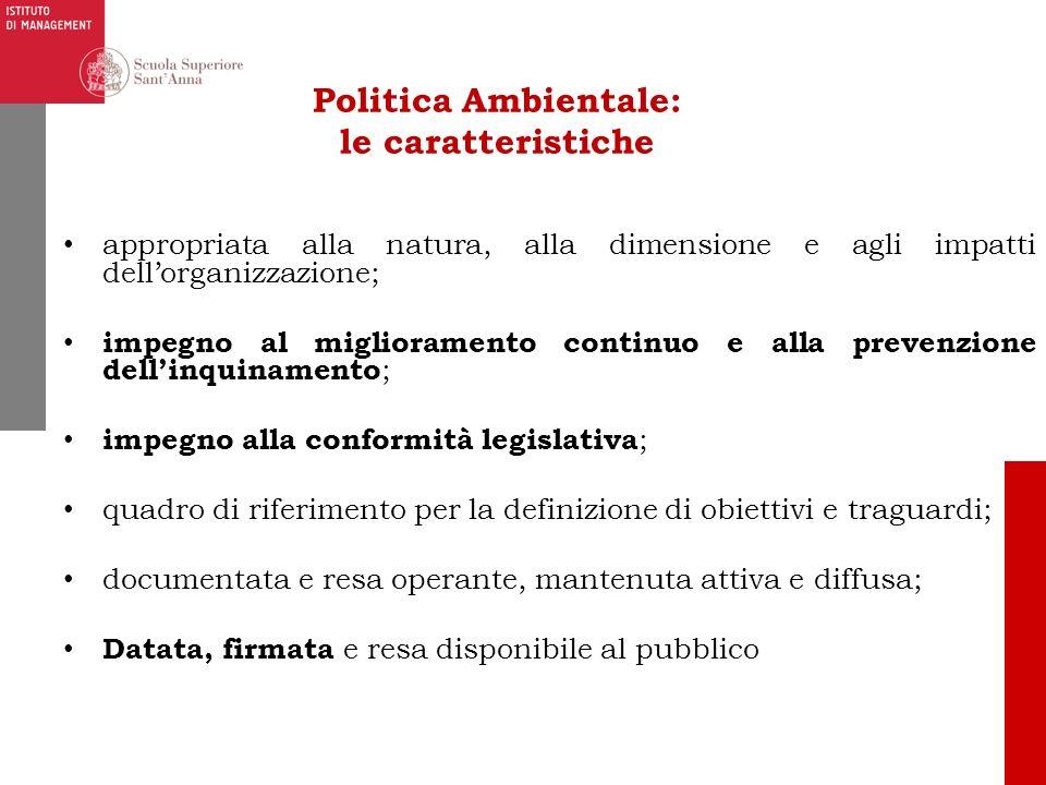 Politica Ambientale: le caratteristiche