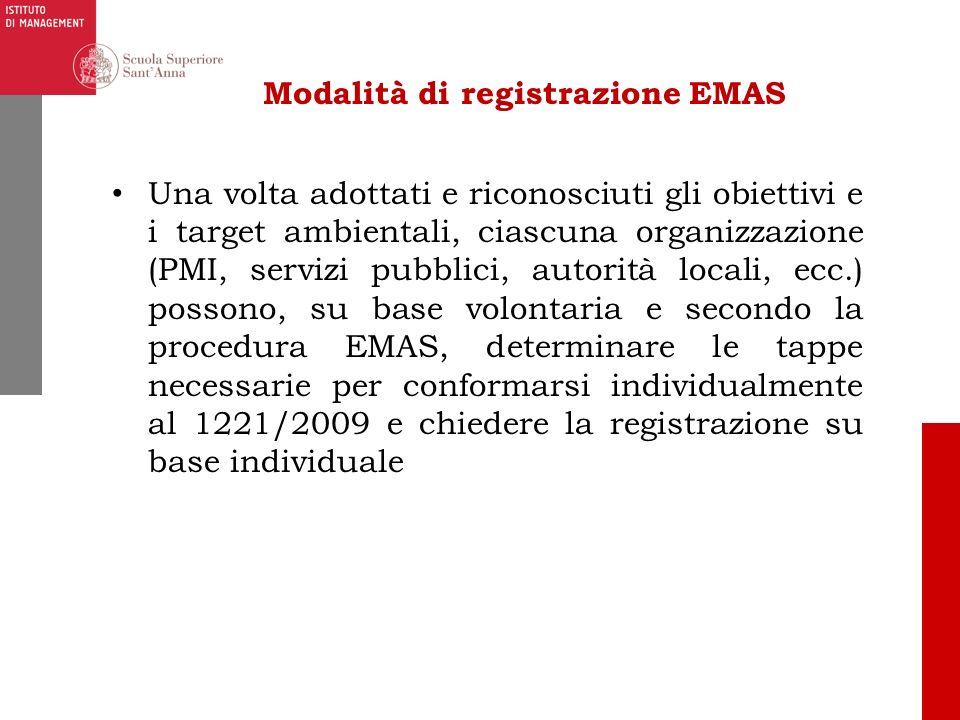 Modalità di registrazione EMAS