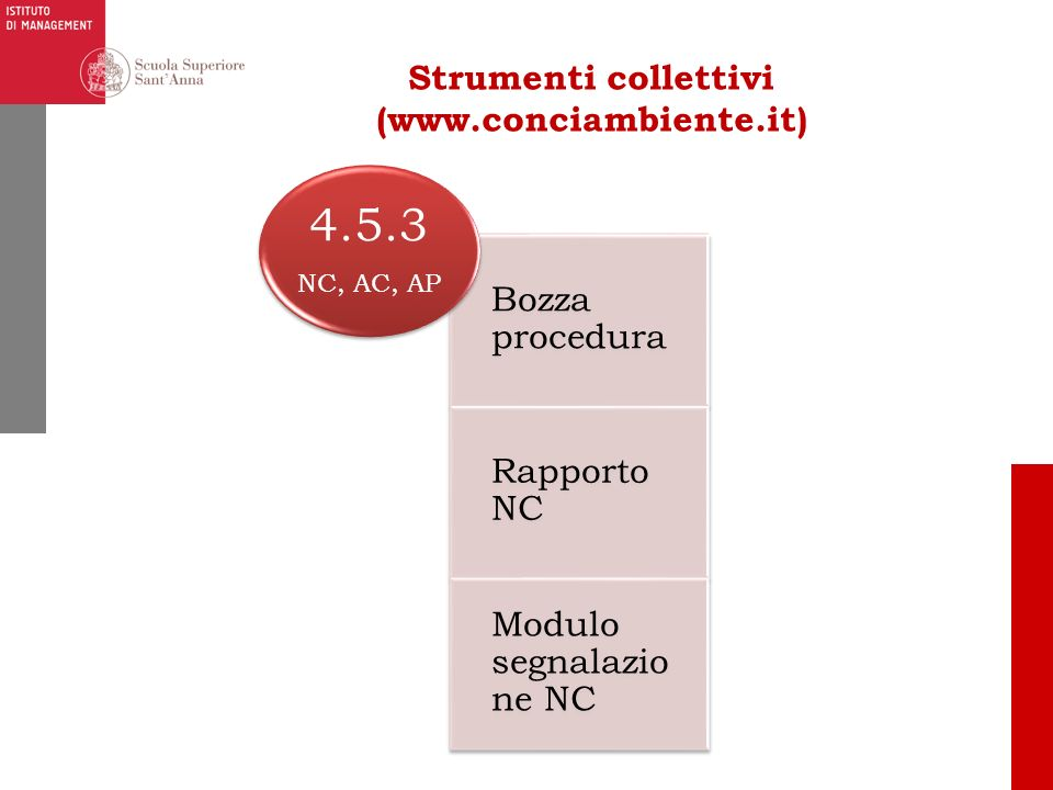 Strumenti collettivi (www.conciambiente.it)