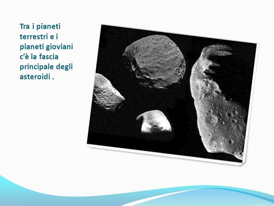 Tra i pianeti terrestri e i pianeti gioviani c'è la fascia principale degli asteroidi .