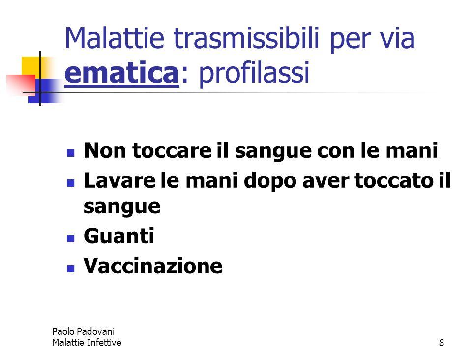 Malattie trasmissibili per via ematica: profilassi