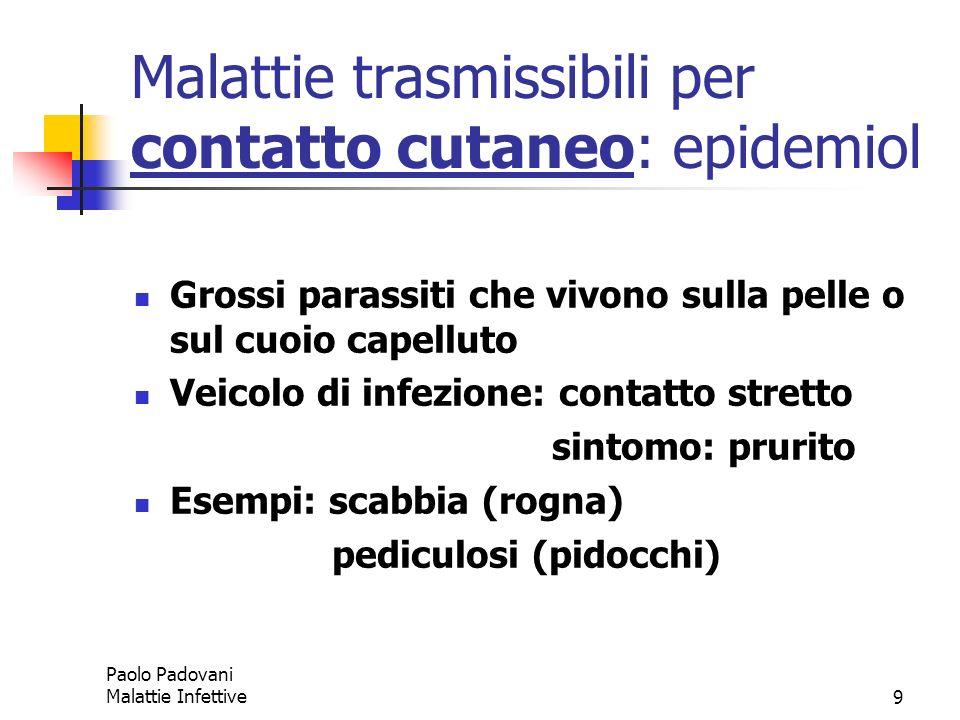 Malattie trasmissibili per contatto cutaneo: epidemiol
