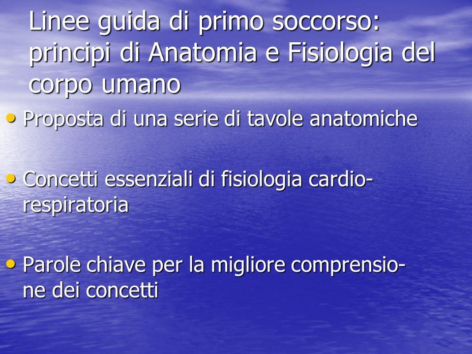 Linee guida di primo soccorso: principi di Anatomia e Fisiologia del corpo umano