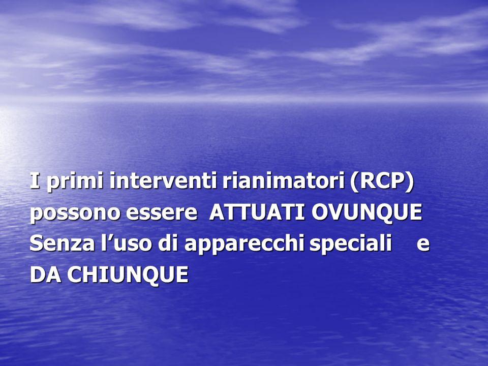 I primi interventi rianimatori (RCP)