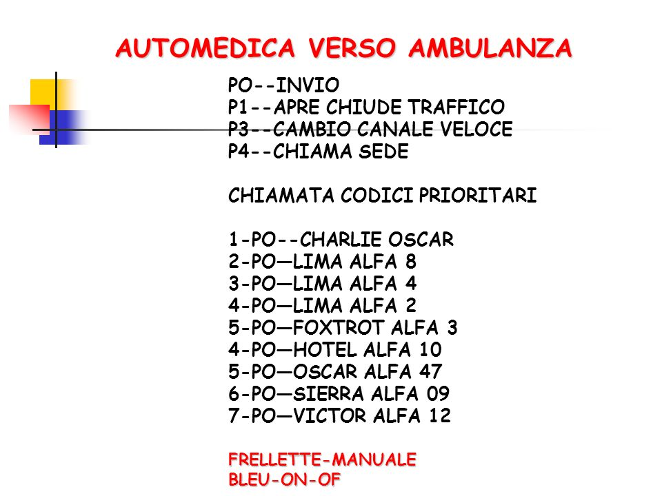 AUTOMEDICA VERSO AMBULANZA