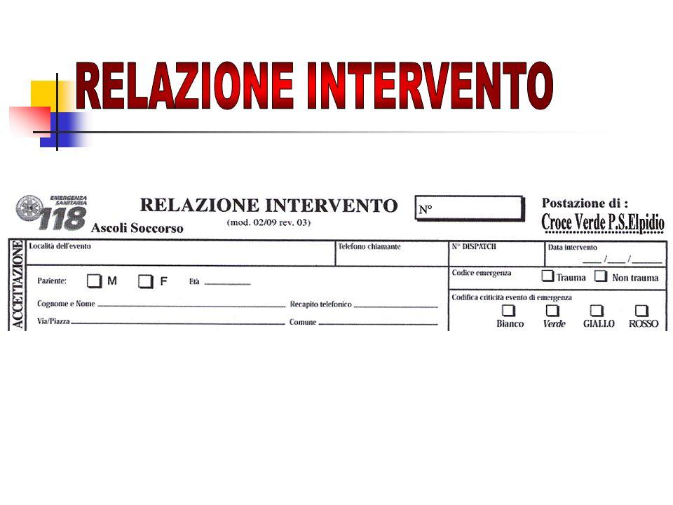 RELAZIONE INTERVENTO