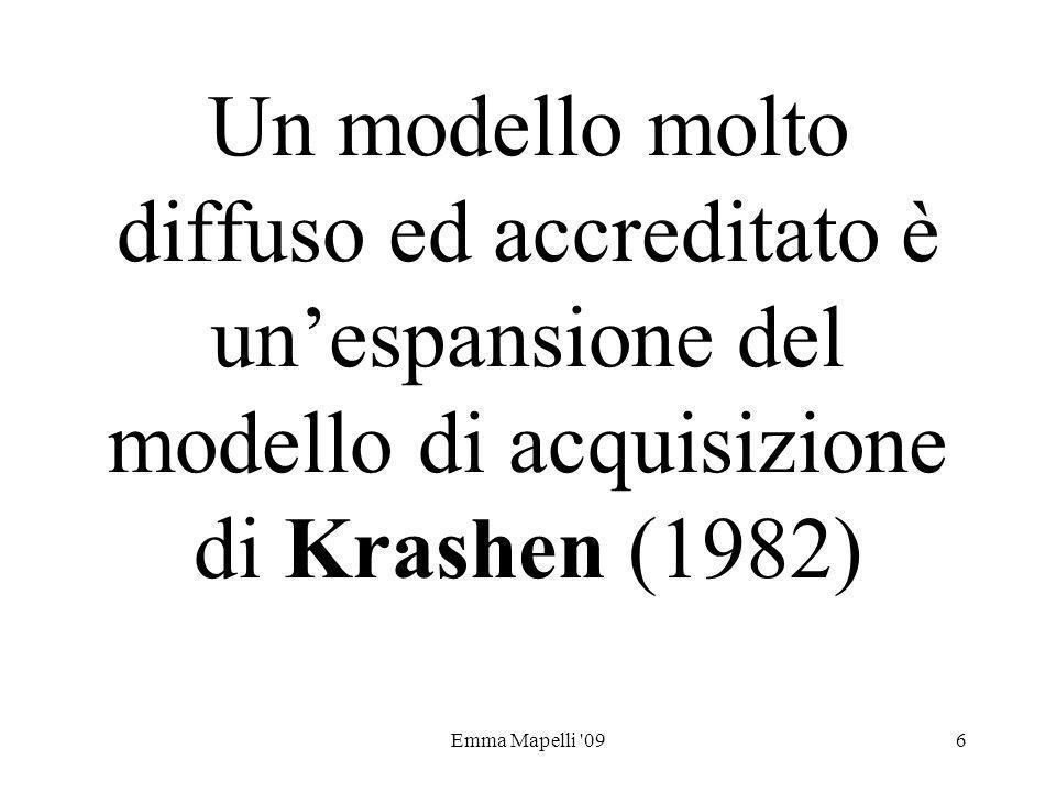 Un modello molto diffuso ed accreditato è un'espansione del modello di acquisizione di Krashen (1982)