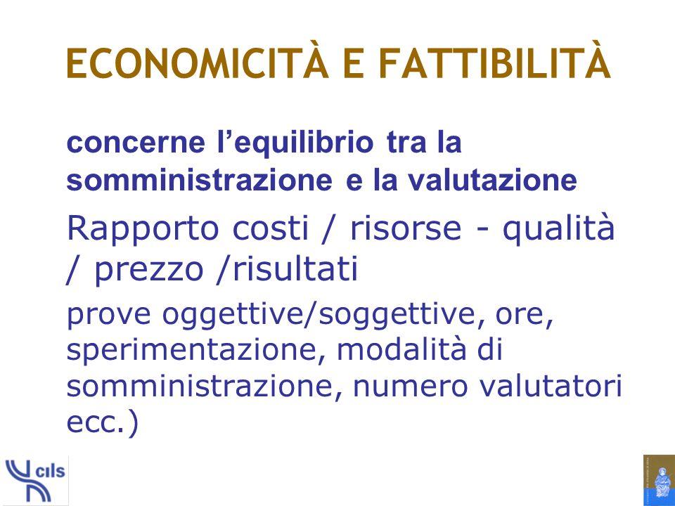 ECONOMICITÀ E FATTIBILITÀ