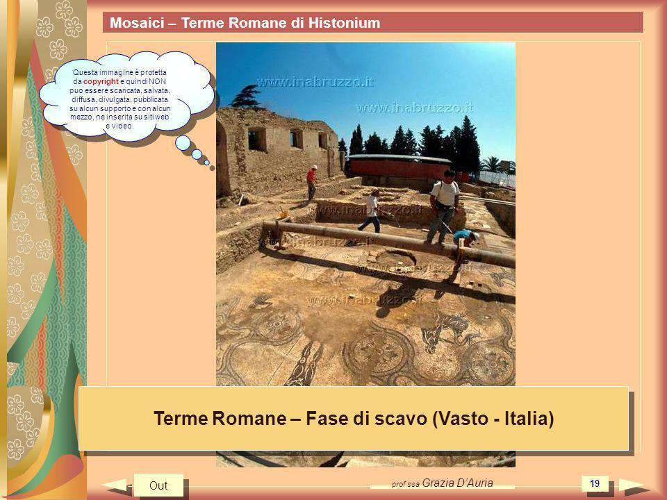 Terme Romane – Fase di scavo (Vasto - Italia)