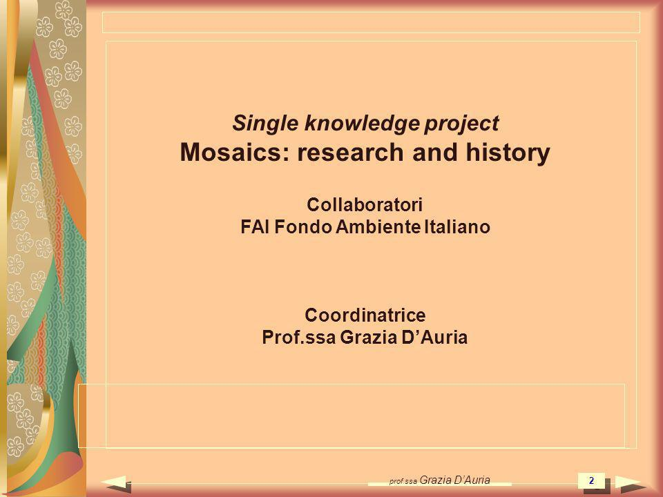 Mosaics: research and history