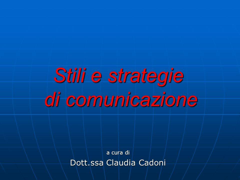 Stili e strategie di comunicazione