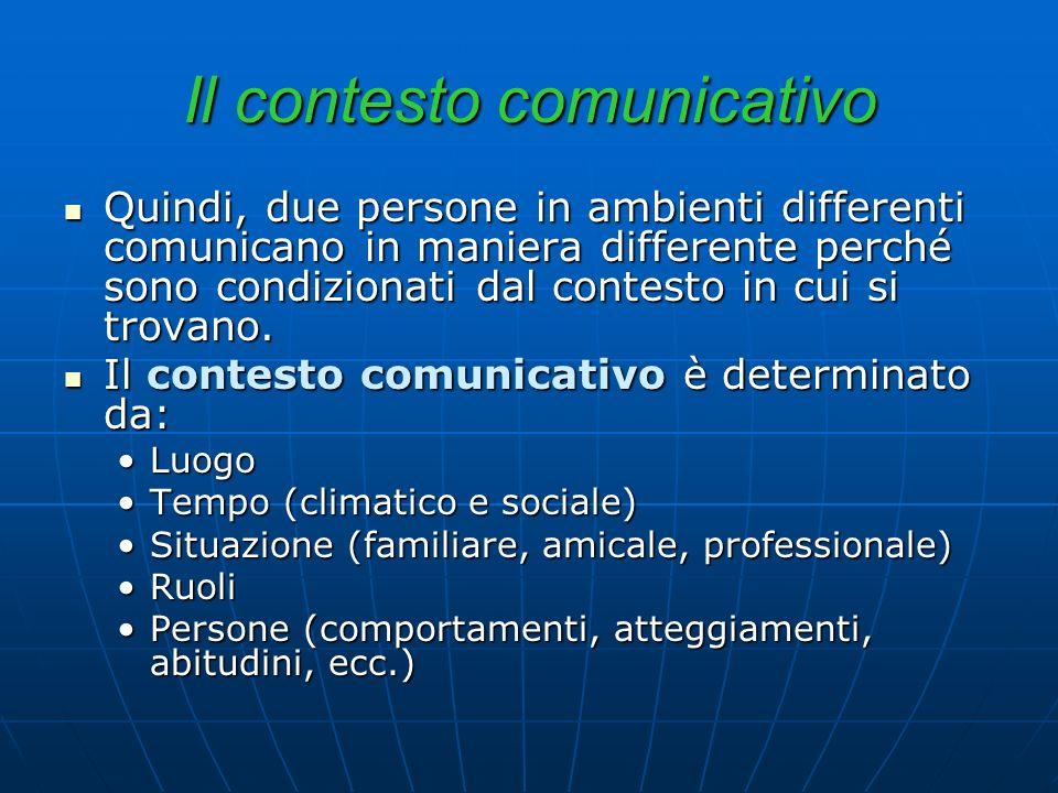 Il contesto comunicativo