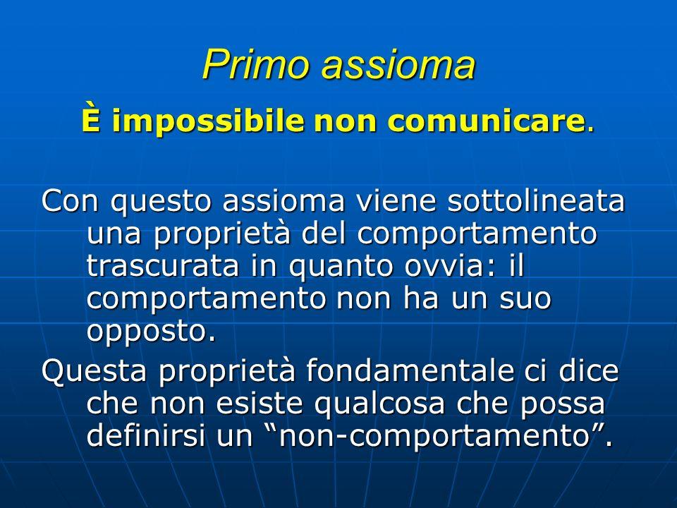 È impossibile non comunicare.