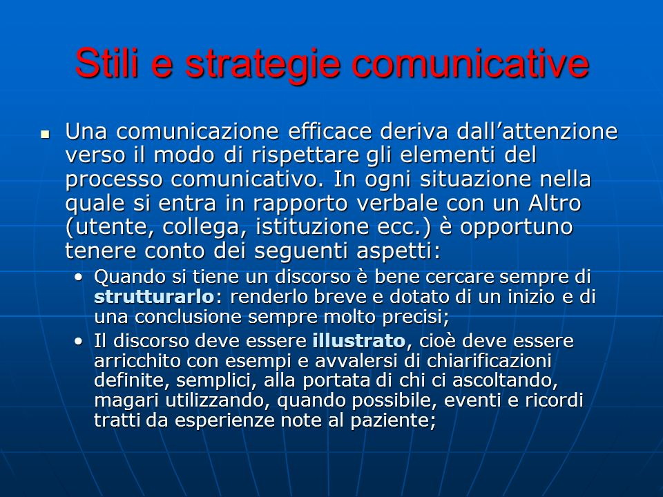 Stili e strategie comunicative