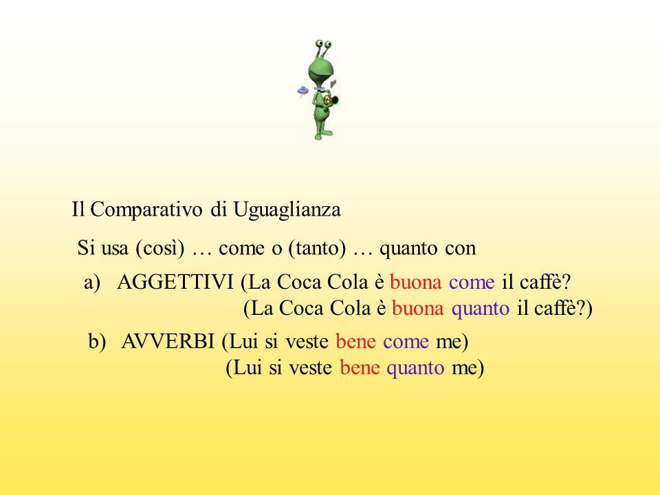 Il Comparativo di Uguaglianza