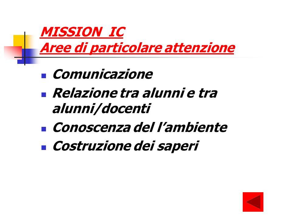 MISSION IC Aree di particolare attenzione