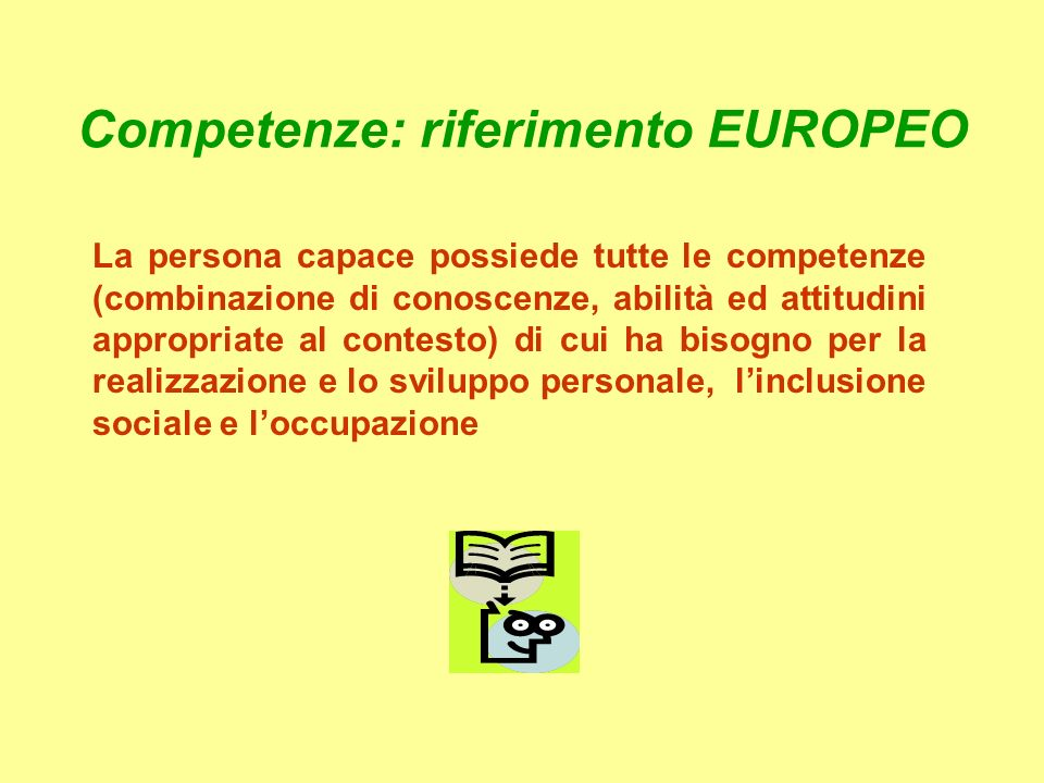 Competenze: riferimento EUROPEO