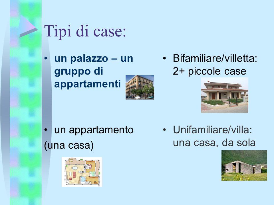 Vocabolario la casa ppt scaricare for Tipi di case