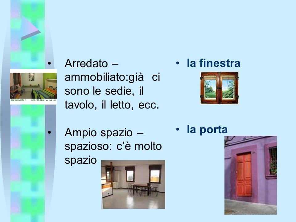 Vocabolario la casa ppt scaricare for Tipi di piani di casa