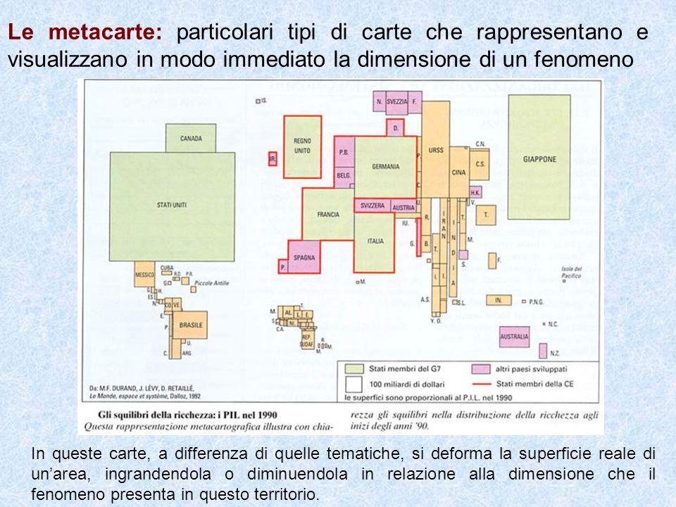 Le metacarte: particolari tipi di carte che rappresentano e visualizzano in modo immediato la dimensione di un fenomeno