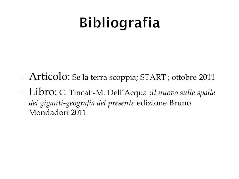 Bibliografia Articolo: Se la terra scoppia; START ; ottobre 2011