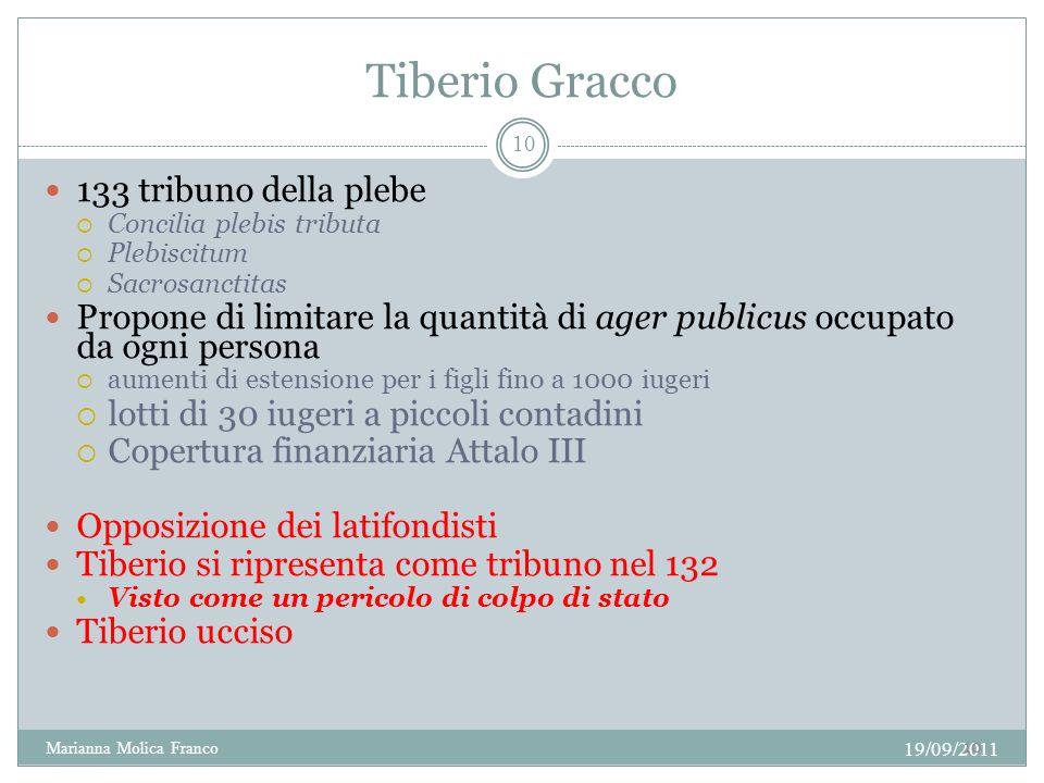 Tiberio Gracco 133 tribuno della plebe