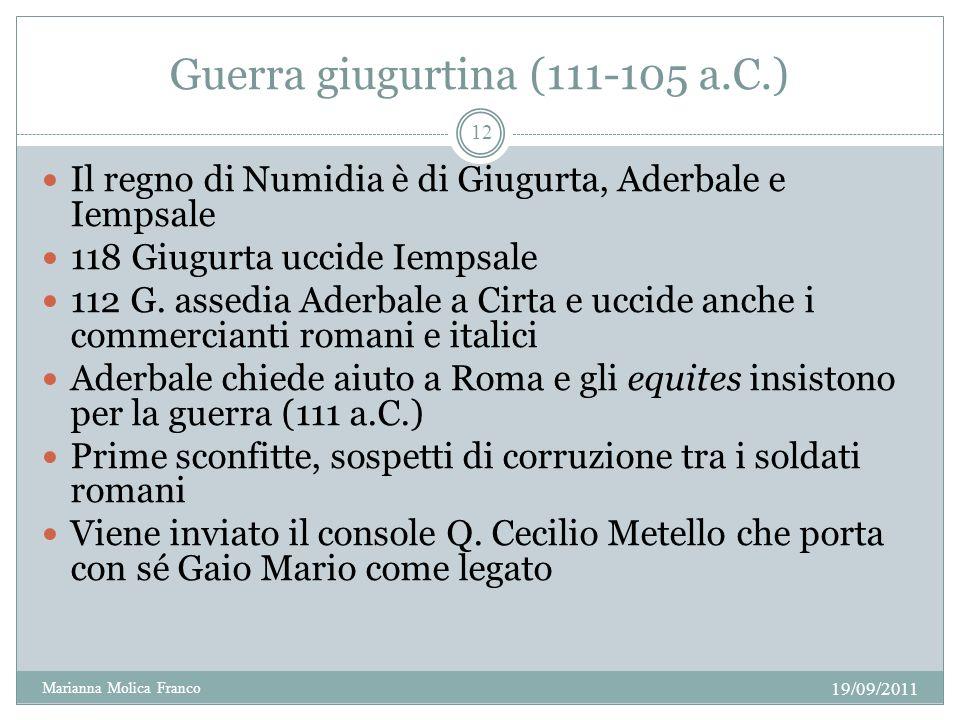Guerra giugurtina (111-105 a.C.)