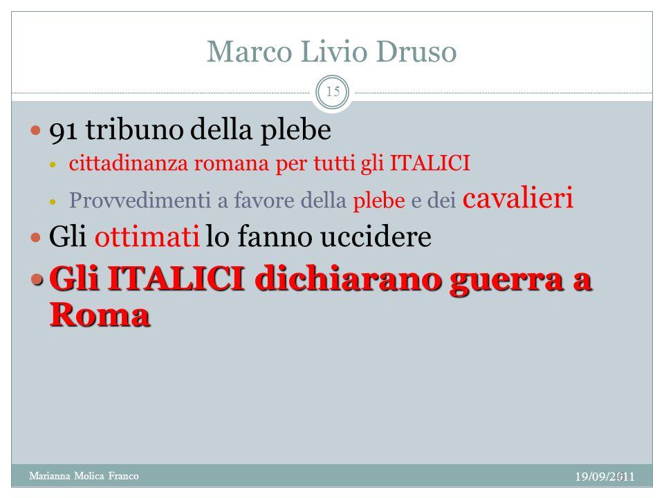 Gli ITALICI dichiarano guerra a Roma