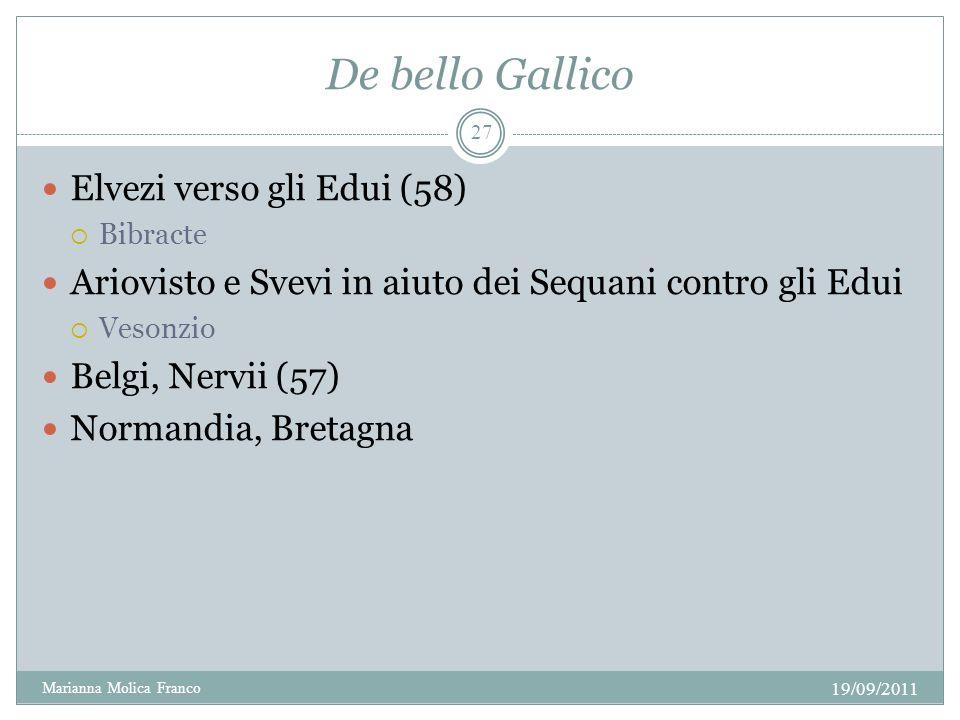 De bello Gallico Elvezi verso gli Edui (58)