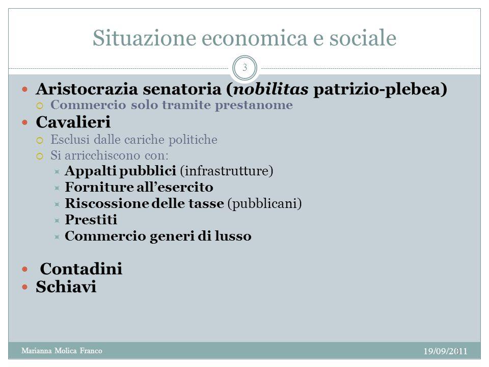 Situazione economica e sociale