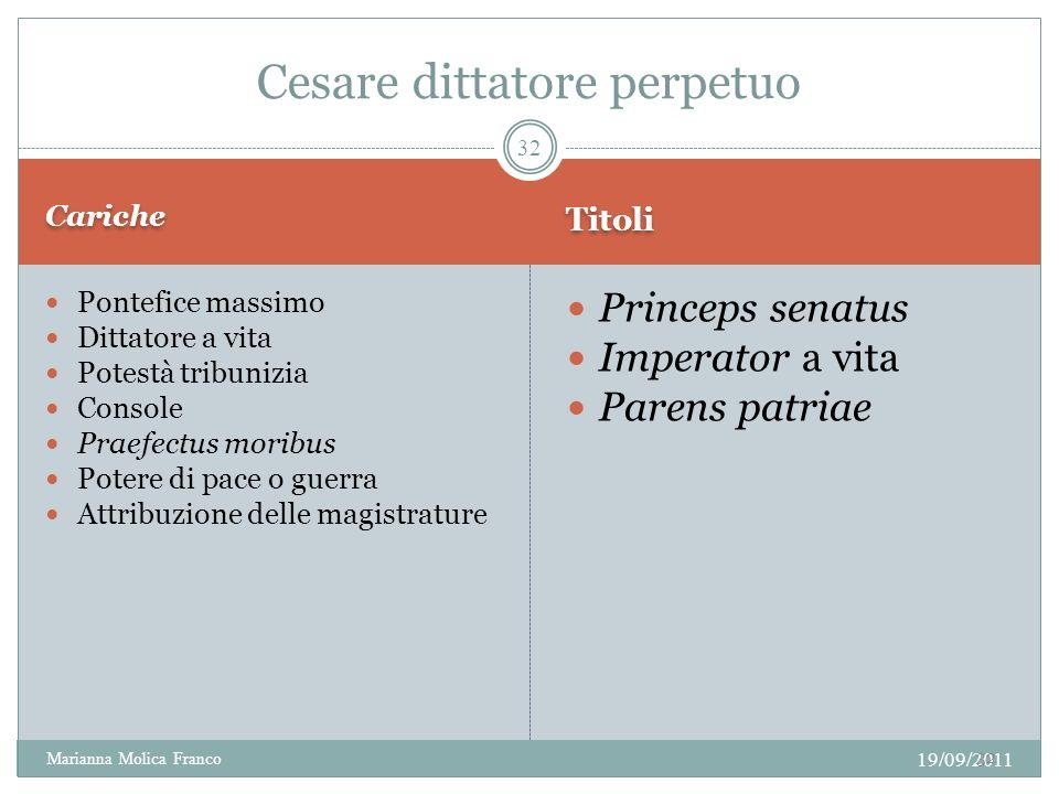 Cesare dittatore perpetuo