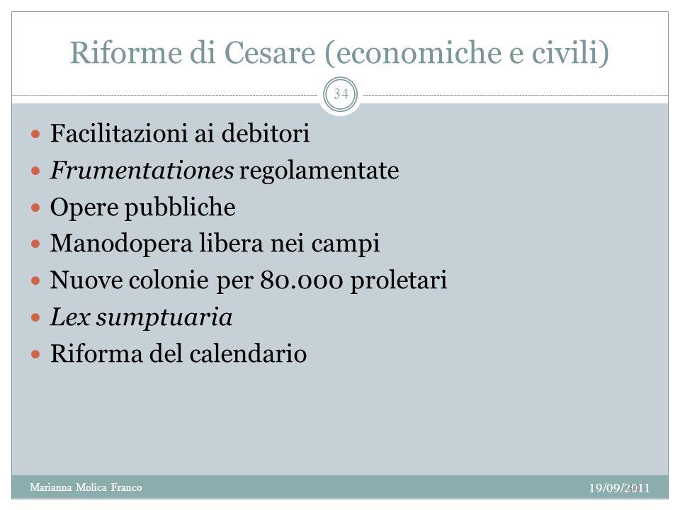 Riforme di Cesare (economiche e civili)