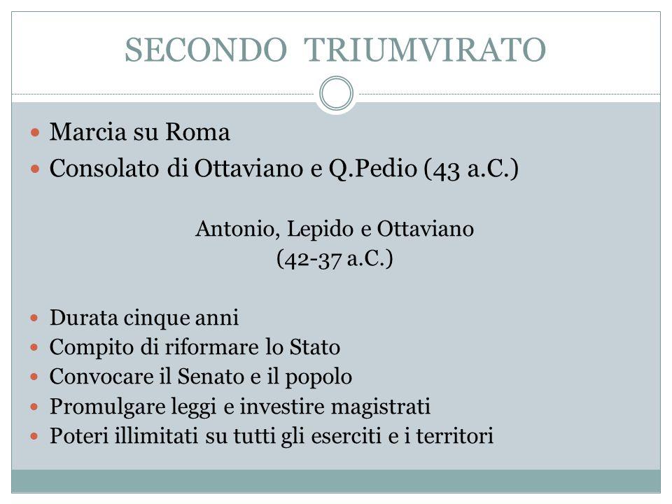Antonio, Lepido e Ottaviano