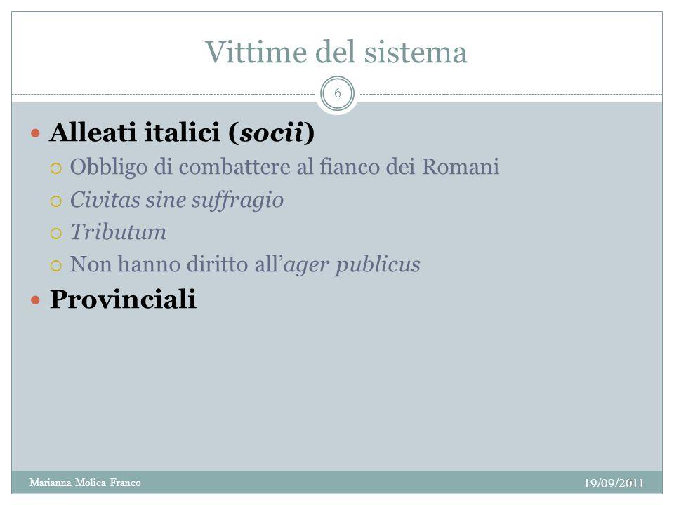 Vittime del sistema Alleati italici (socii) Provinciali