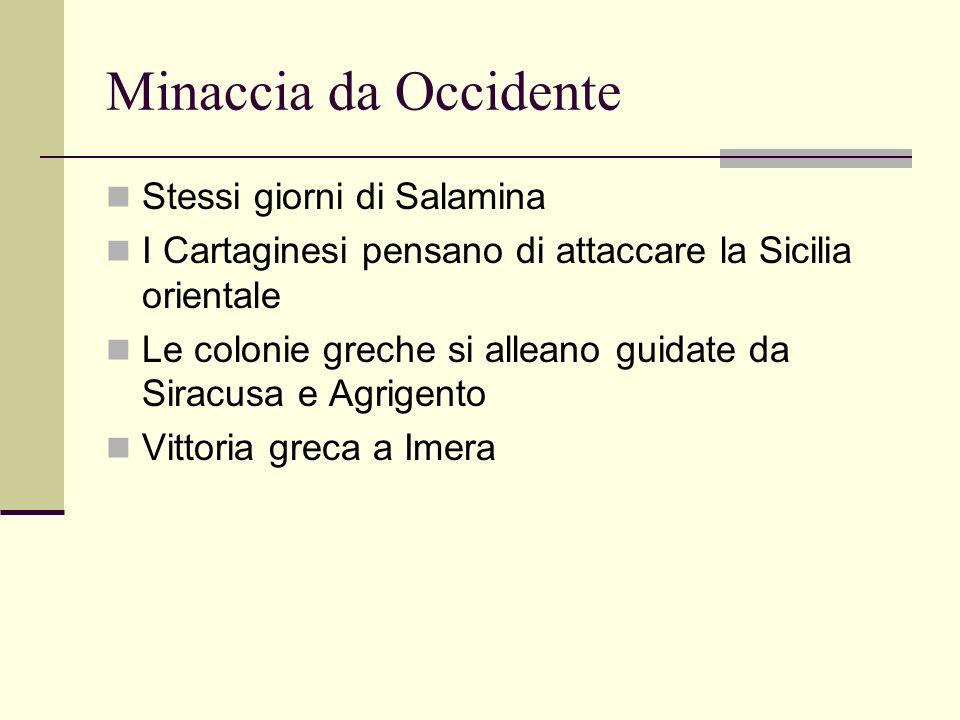Minaccia da Occidente Stessi giorni di Salamina