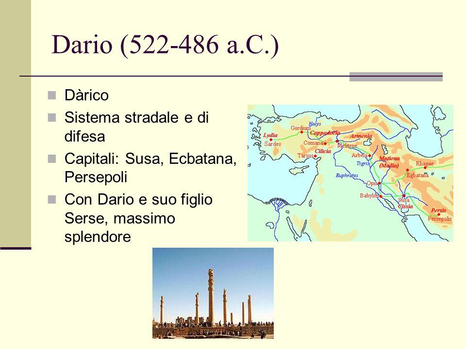 Dario (522-486 a.C.) Dàrico Sistema stradale e di difesa