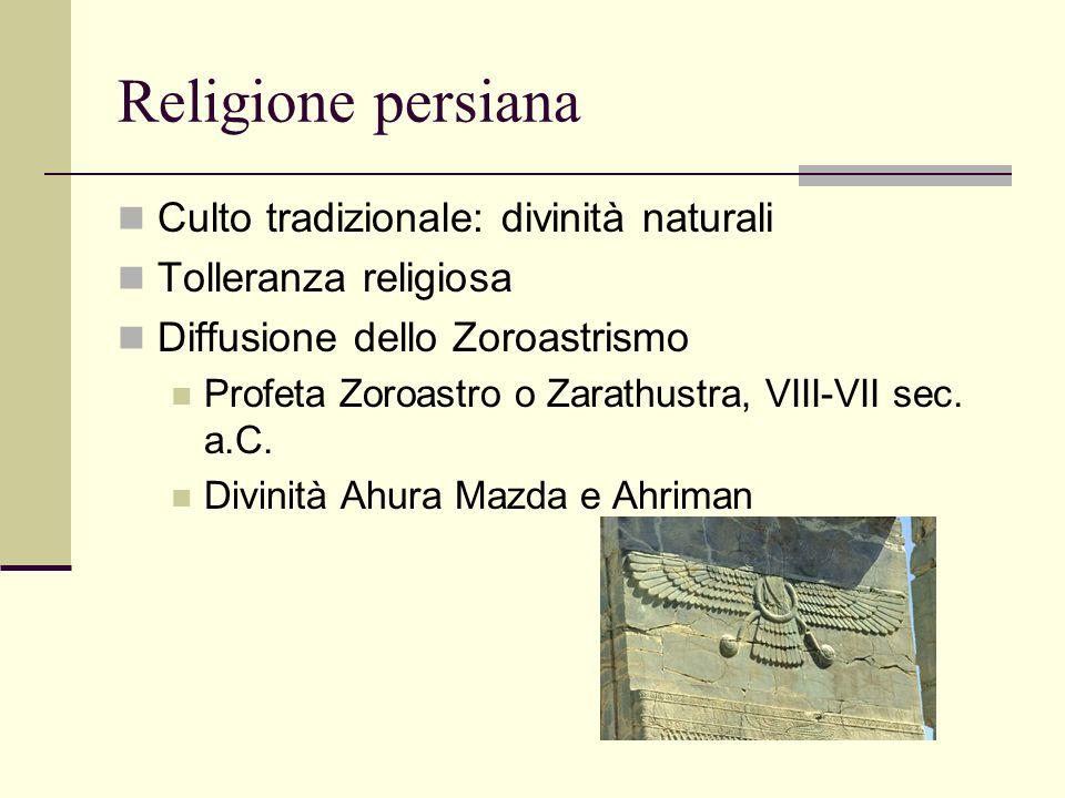 Religione persiana Culto tradizionale: divinità naturali