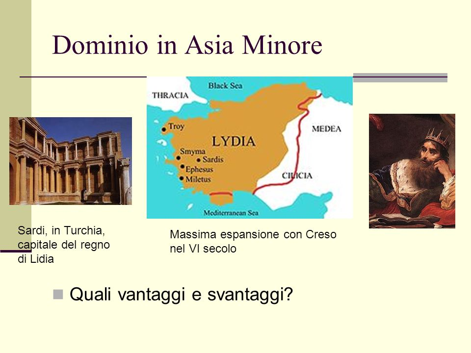 Dominio in Asia Minore Quali vantaggi e svantaggi