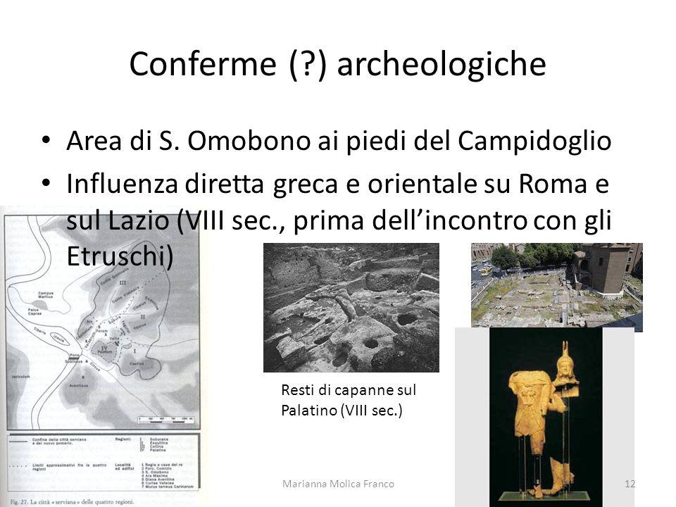 Conferme ( ) archeologiche