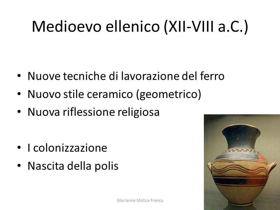 Medioevo ellenico (XII-VIII a.C.)