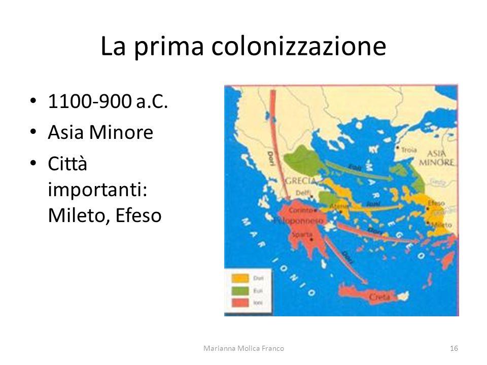 La prima colonizzazione