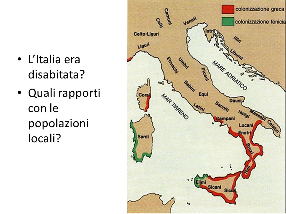 L'Italia era disabitata