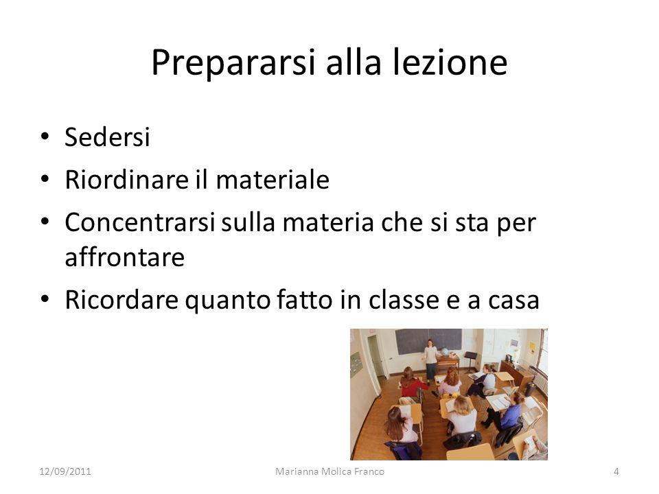 Prepararsi alla lezione