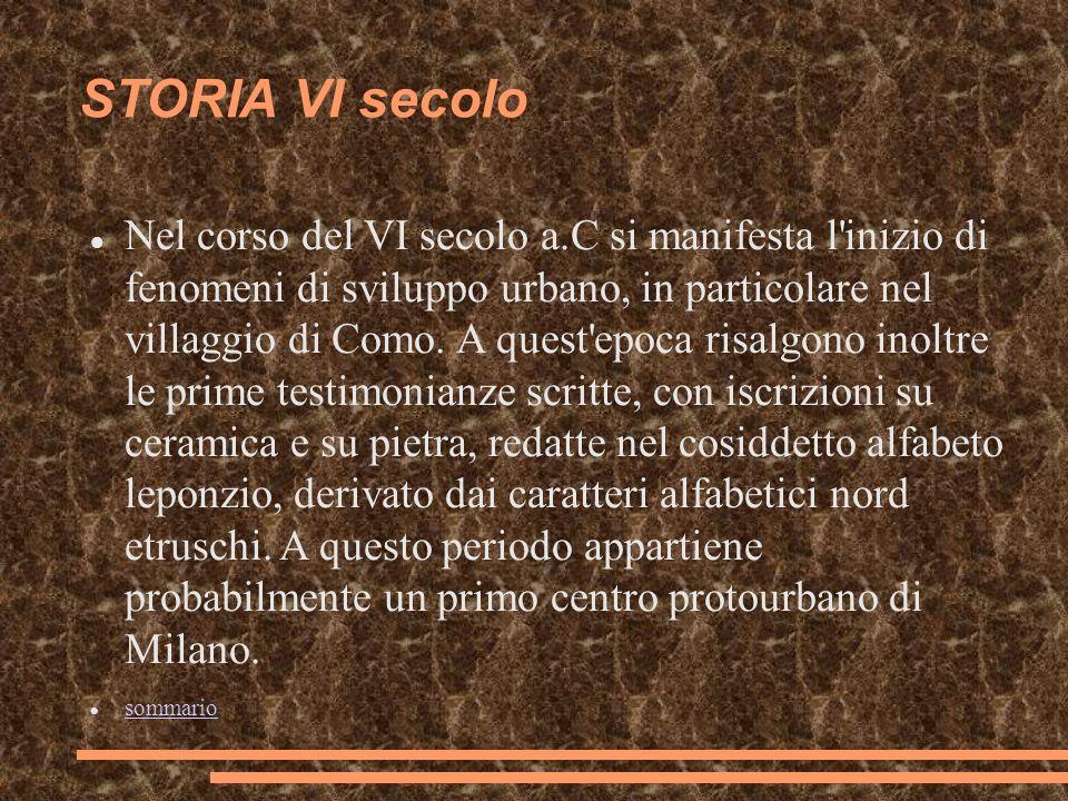 STORIA VI secolo