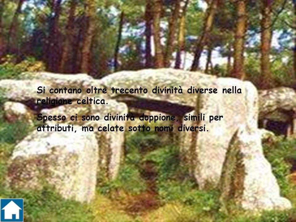Si contano oltre trecento divinità diverse nella religione celtica.