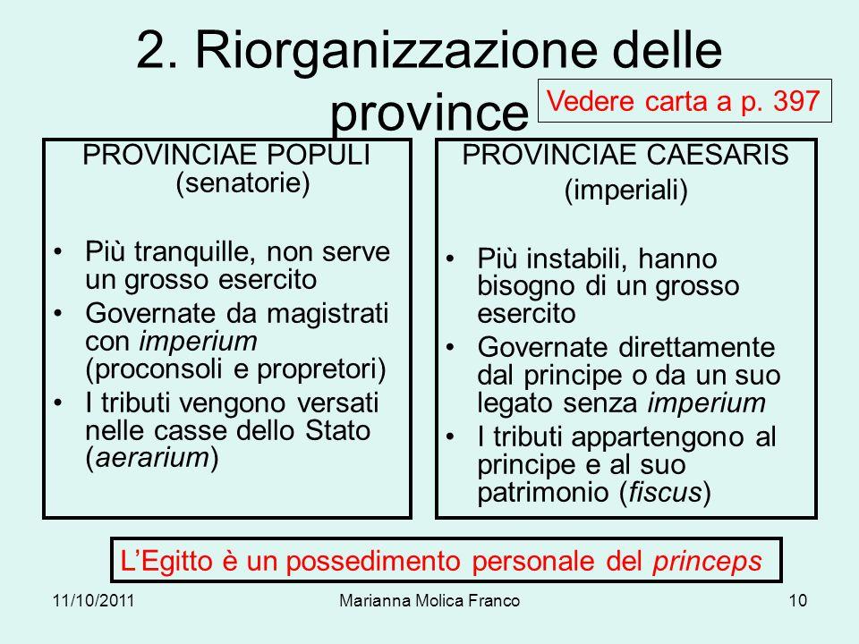 2. Riorganizzazione delle province