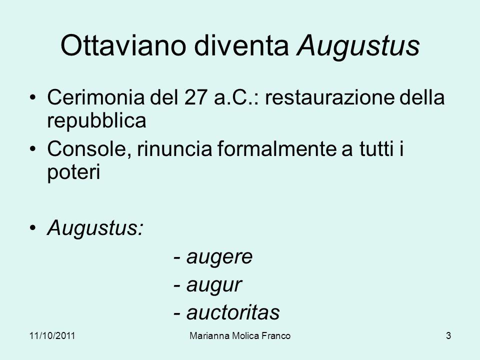 Ottaviano diventa Augustus