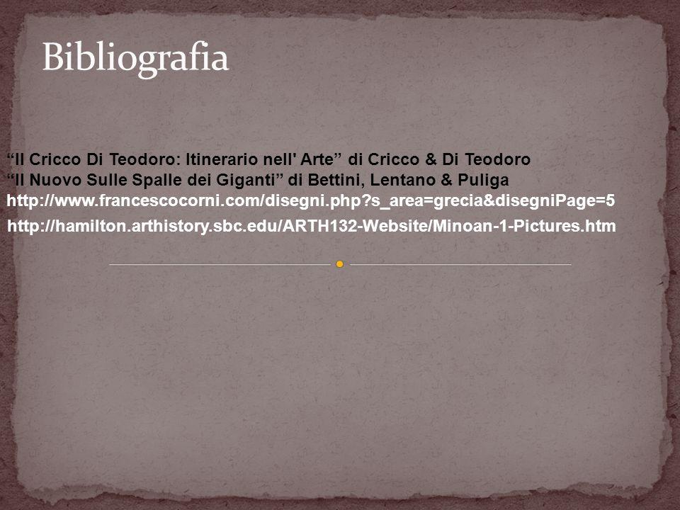 Bibliografia Il Cricco Di Teodoro: Itinerario nell Arte di Cricco & Di Teodoro. Il Nuovo Sulle Spalle dei Giganti di Bettini, Lentano & Puliga.