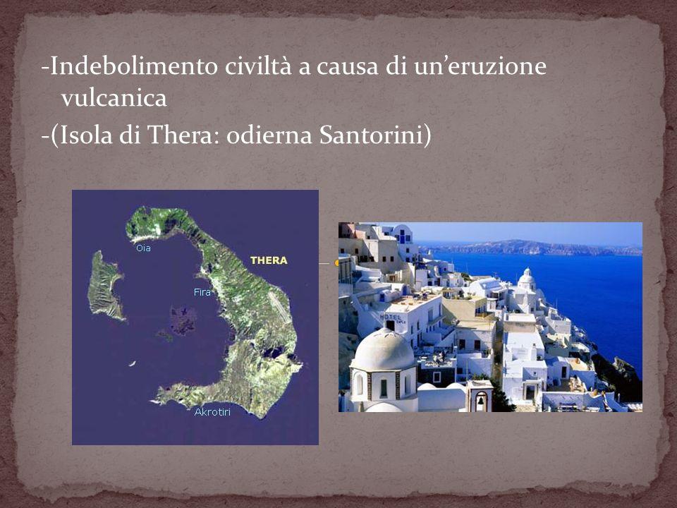 -Indebolimento civiltà a causa di un'eruzione vulcanica