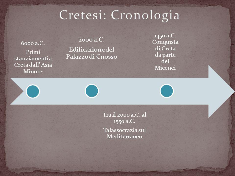 Cretesi: Cronologia 2000 a.C. Edificazione del Palazzo di Cnosso